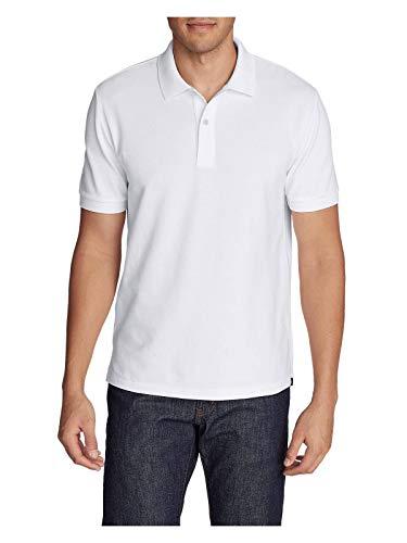 Eddie Bauer Men's Classic Field Pro Short-Sleeve Polo Shirt, White Tall XL Eddie Bauer Short Sleeve Shirt