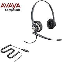 Avaya Compatible Plantronics EncorePro 720 HW720 VoIP Noise Canceling Headset Bundle Avaya 1408, 1416, 2410, 2420, 4606, 4610, 4610SW, 4612, 4620, 4620SW, 4621, 4621SW, 4622SW, 4624, 4625SW, 4630, 4630SW, 5410, 5420, 5610, 5620, 5621, 5625, 6416D+M, 6424D+M, QE4610, 9404, 9406, 9408, 9504, 9508