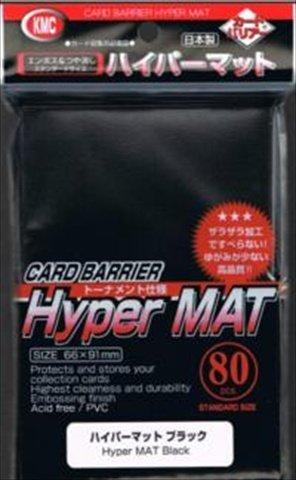 KMC 80 Card Barrier Hyper Mat Black (2 Packs/total 160)
