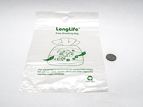 10 (6x10) LongLive Breather Bags for Shipment or Transportation of Fish, Shrimp, Aquatic Animals compare to Kordon Breathing Bag. (By Kazen Aquatic)