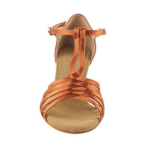 """Gold Taube Schuhe 50 Shades Of Tan Tanzkleid Schuhe Collection-III, Komfort Abend Hochzeit Pumps: Ballroom Schuhe für Latein, Tango, Salsa, Swing, Kunst von Party Party (2,5 """", 3"""", 3,5 """"Heels) S92319 Dunkelbraun Satin"""