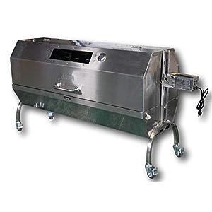 Charotis 62″ Charcoal Spit Roaster, 60W Motor, 100% Stainless Steel BBQ rotisserie for Whole Pig, Lamb, Goat – Model SSH1XL
