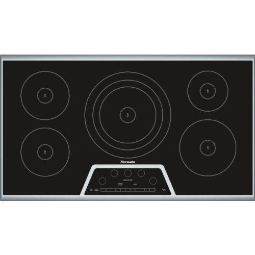 Thermador CIT365KB 36 in. Induction Cooktop, Black With Stainless Steel Frame