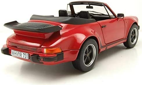 Norev NV187664 1:18 1987 Porsche 911 Turbo Cabriolet-Red