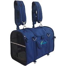 Natuvalle 6-in-1 Sturdy Pet Carrier Backpack, Front Pack, Shoulder Bag, Pet Hand Bag, Soft Sided pet Carrier, Pet Travel Carrier Ltd