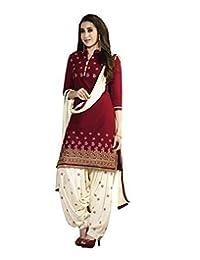 Ready Made Patiala Salwar Embroidered Cotton Salwar Kameez Suit India/Pakistani Dress OF (MEDIUM) (SMALL)