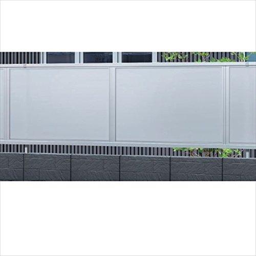 三協アルミ カムフィX14N型 フェンス本体 2008 ポリカ目隠しタイプ 『アルミフェンス 柵』  ホワイト B00DGIE1SK 本体カラー:ホワイト