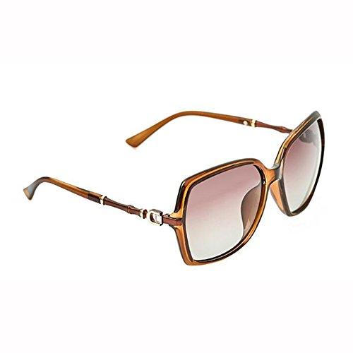 Hembra D D Diamante Gafas De Bambú Gafas De De WX Manejar Luz Vistoso C Moda Imitación Marco Polarizada Sol Palabra xin Grande Sección Color xIZBZq8