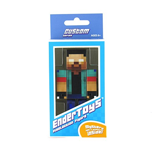 EnderToys Herobrine Boy Action Figure Toy, 4 Inch Custom Series Figurines [Not an Official Minecraft Product]