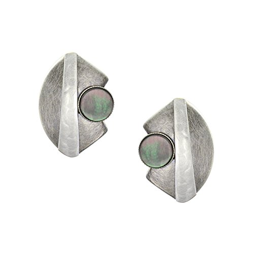 Marjorie Baer Fan with Taper and Black Pearl Disc Clip onEarring