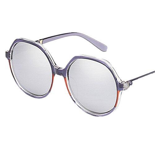 Gafas Summer Conducción Personalidad vacaciones aire Oversized libre Al de UV Protección Color Gris Azul de sol polarizada Women's Para Lente Gafas sol Frame Polígono Beach R47qA
