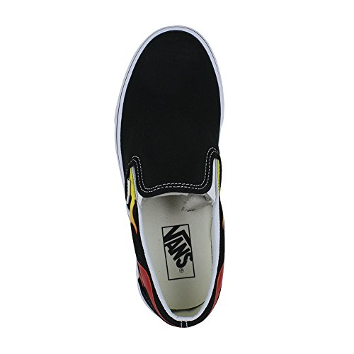 Vans Old Skool Platform Shoes (flame) Nero / Nero / Bianco
