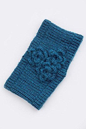 Crochet Heart Pin (TRENDY FASHION JEWELRY TRIPLE CROCHET FLORAL DESIGN KNIT HEADWRAP BY FASHION DESTINATION | (Dark Teal))