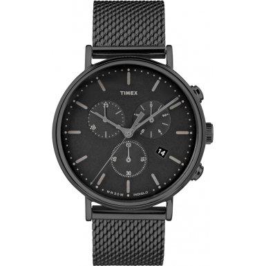 Timex Fairfield Men's Stainless Steel Mesh Chronograph 41MM