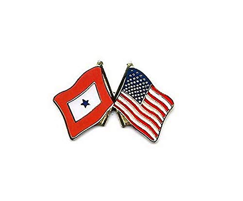 Hebel USA Service Blue Star Military Friendship Flag Motorcycle Hat Cap Lapel Pin | Model FLG - 412