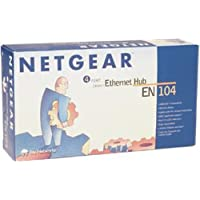 Netgear EN104 Ethernet 4-Port Hub with BNC and Uplink Button