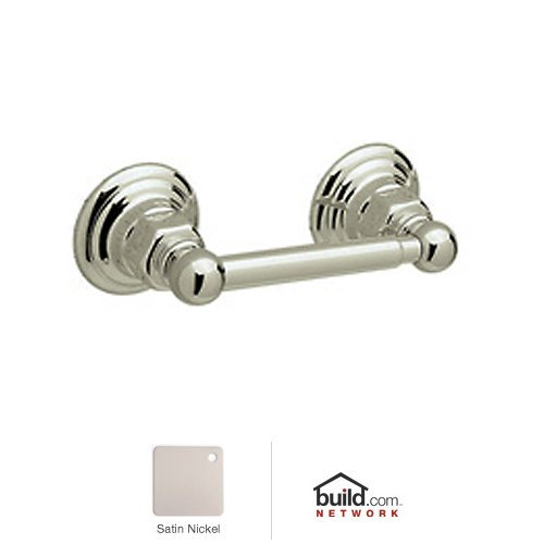 (Rohl ROT18STN Country Bath Single Spring Loaded Toilet Paper Holder in Satin Nickel)