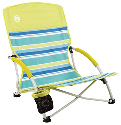 Cheap Coleman Camping Chair | Lightweight Utopia Breeze Beach Chair | Outdoor Chair with Low Profile low profile beach chair