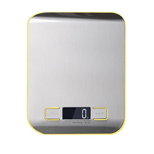 USSay ETohio Digital Multifunction Food Kitchen Scale 11lb,5kg, Stainless Steel5-7 Days You Can Receive the Goods (Yellow)