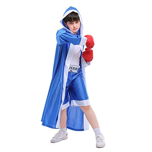 ROZKITCH Children Boxer Halloween Boxing Costume Dress-Up Role Play Party Blue