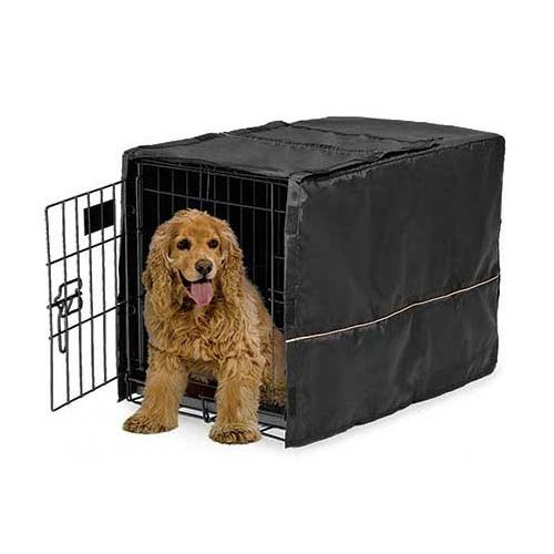 Quiet Time Crate Cover Black Polyester 30.5 x 20 x 20.5 by MidWest Homes for Pets