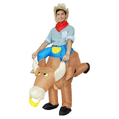 MoreToys Inflatable Cowboy Rider Halloween Blow Up Costume