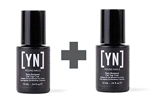 (Young Nail Stain Resistant Top Coat 2 Pack)