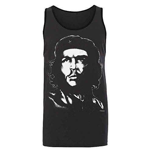 Che Guevara Poster Iconic Photo Men's Tank Top Guerrillero Heroico Shirts Dark Grey/Black Small