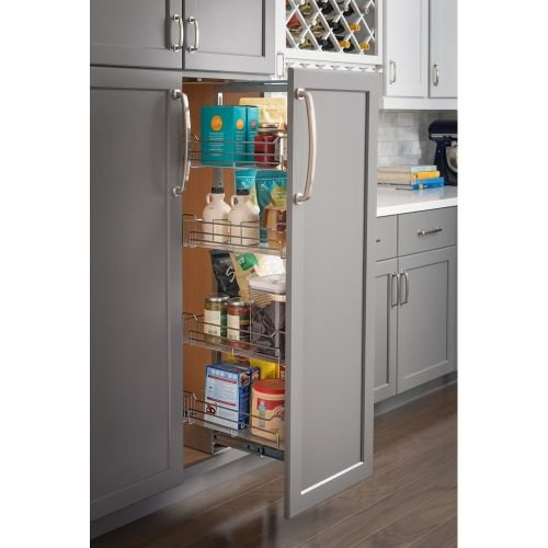 15'' Chrome wire pantry pullout with heavy-duty soft-close slides. by Hardware Resources