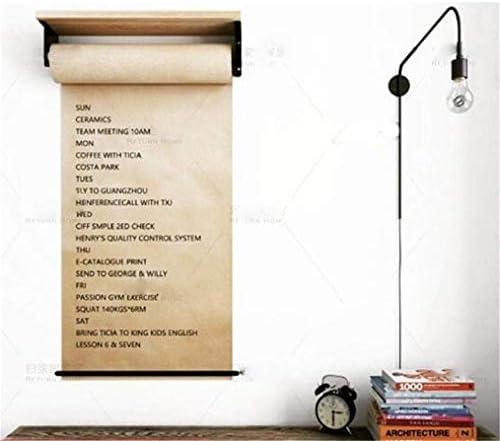 Wiederverwendbarer Kraftpapierrollenspender FüR Das Zeichnen Von Notizen Im BüRo, 120G Papierrollenhalter Wandmontage Mit Holzablage Passend FüR Ideen FüR Office-Konzepte - Creative INS,70cm/27.5In