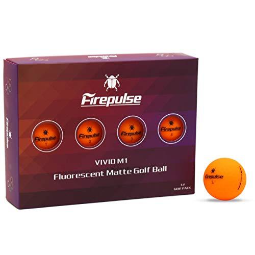 FIREPULSE Vivid M1 Golf Balls 12pack(1dozen) / Vivd Matte Color Ball (Vivid Orange)
