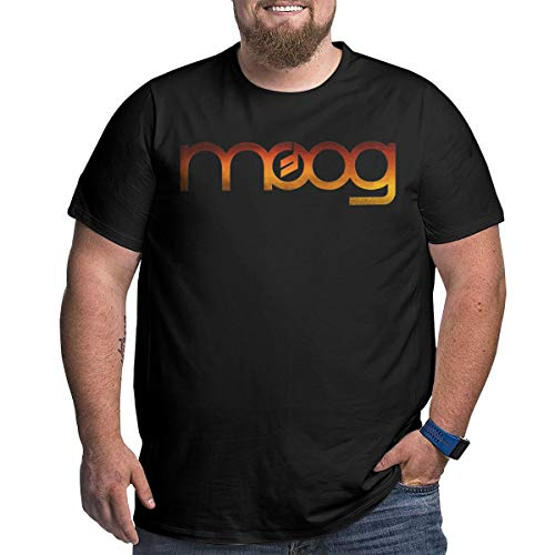 KGYUT Moog Synth Logo Big and Tall T-Shirt for Men - Short Sleeve Tee with Crew Neck Black