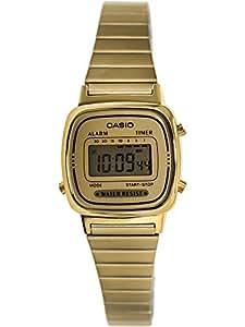 Casio Women's Gold Stainless Steel Water Resistant Watch LA670WGA-9
