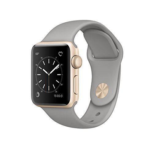 Apple Watch Series 2 38mm Smartwatch (Gold Aluminum Case, Concrete Sport Band)