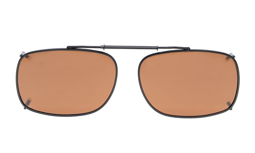 5bdc2c0ab58 Amazon.com  Eyekepper Metal Frame Rim Polarized Lens Clip On Sunglasses 2 3  16