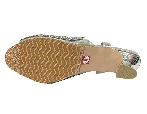 Argent Sandales Silver Style Step N Pour Femme gq7H764B