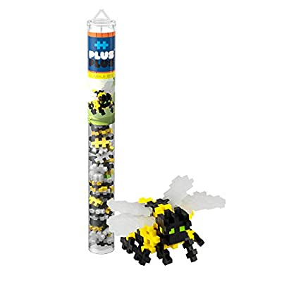 PLUS PLUS – Mini Maker Tube – Bumble Bee – 70 Piece, Construction Building STEM   STEAM Toy, Interlocking Mini Puzzle Blocks for Kids: Toys & Games