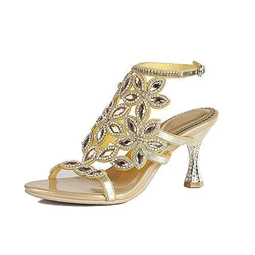 3c9b36b0 Mejor Zapatos de Mujer de Cuero Primavera Verano Botas de Moda Sandalias  Dedo del pie Abierto