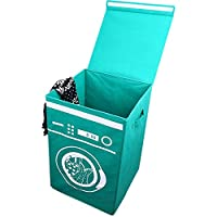 HomRing Large Laundry Hamper, Laundry Basket Lid Foldable Hamper Built-in Handles Easy Transport, 19.7x13.4x13.4inches