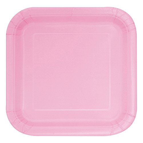 Square Light Pink Paper Plates