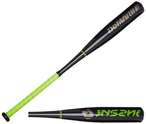DeMarini 2015 Youth Insane Big Barrel Baseball Bat, 29-Inch/20-Ounce, Black/Green