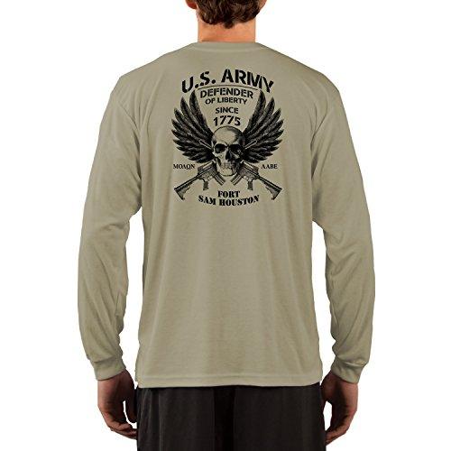 Dead Or Alive Clothing U.S. Army Fort Sam Houston Performance Long Sleeve Shirt Medium Alpine - Gear Swim Houston