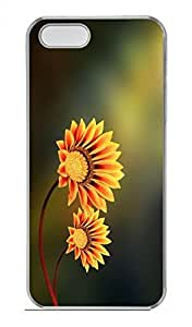 Yellow Flowers Customized Popular DIY Hard Back Case Cover For iPhone 5 5S Hard Transparent by icecream design