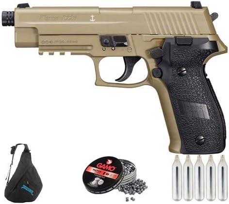 Sig Sauer P226 FDE | Pack Pistola de balines (perdigones de Plomo) Arma de Aire comprimido CO2 Calibre 4,5mm <3,5J