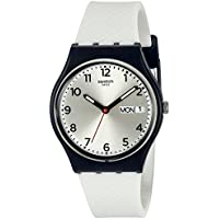 Swatch Men's GN720 Analog Display Quartz White Watch