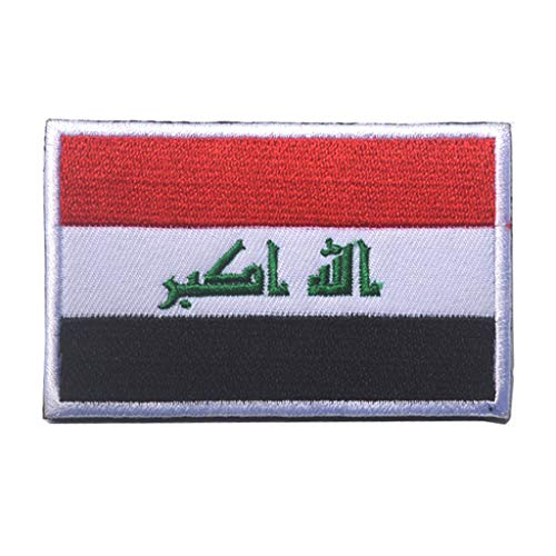 ShowPlus Iraq IQ Flag Military Embroidered Tactical Patch Morale Shoulder Applique