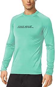 Baleaf Men's Long Sleeve Surf Shirt Rashguard Swim Tee UPF