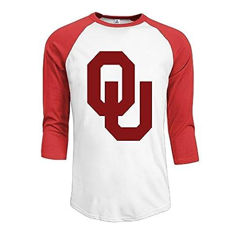 Guy Oklahoma Sooners Football Bob Stoops 3/4 Raglan Shirts Baseball Tees - Boomer Football