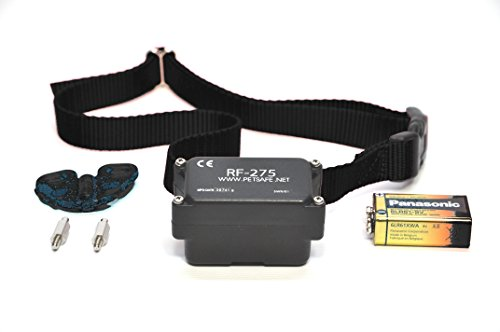 Petsafe PRF-275 Stubborn Dog Collar for In-ground Fence with FREE Nylon Replacement Collar (Black) ()
