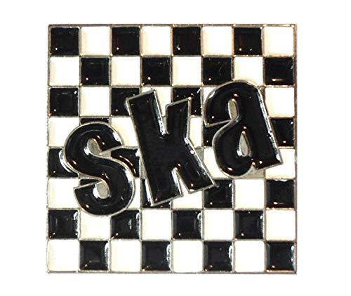 Ska Checkerboard 2 Tone Metal Enamel Pin Badge